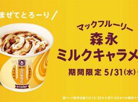【日本必吃甜點】麥當勞期間限定!香濃甜蜜新作森永牛奶糖冰炫風