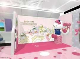 【JR西日本限定】山陽新幹線推出粉色系HELLO KITTY新幹線,超萌凱蒂貓車掌等你來搭乘