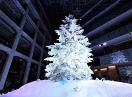 【東京必去】日本室內最大級聖誕樹,東京車站KITTE打造銀白色夢幻中庭等你一起過聖誕