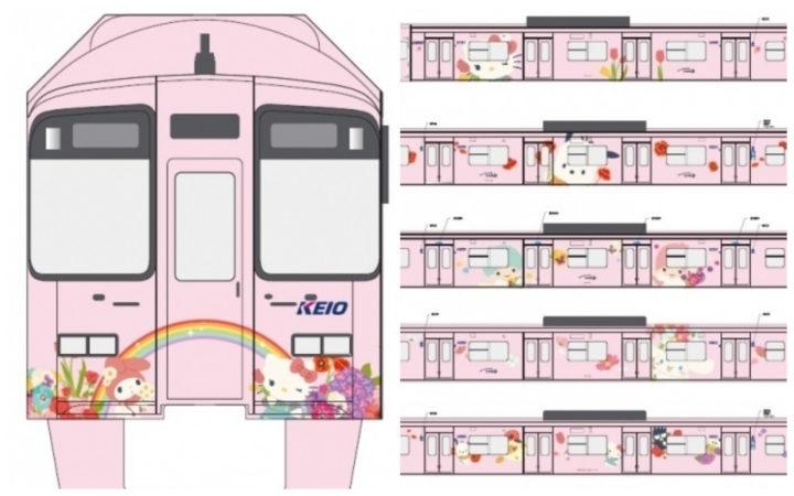 最新最萌!京王電鐵推出全新HELLO KITTY彩繪列車,三麗鷗夥伴們也一同登場!