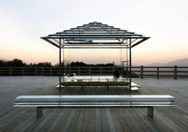 吉岡德仁絕美作品「玻璃茶室—光庵」日本巡迴中,2019年4月起東京國立新美術館戶外展示